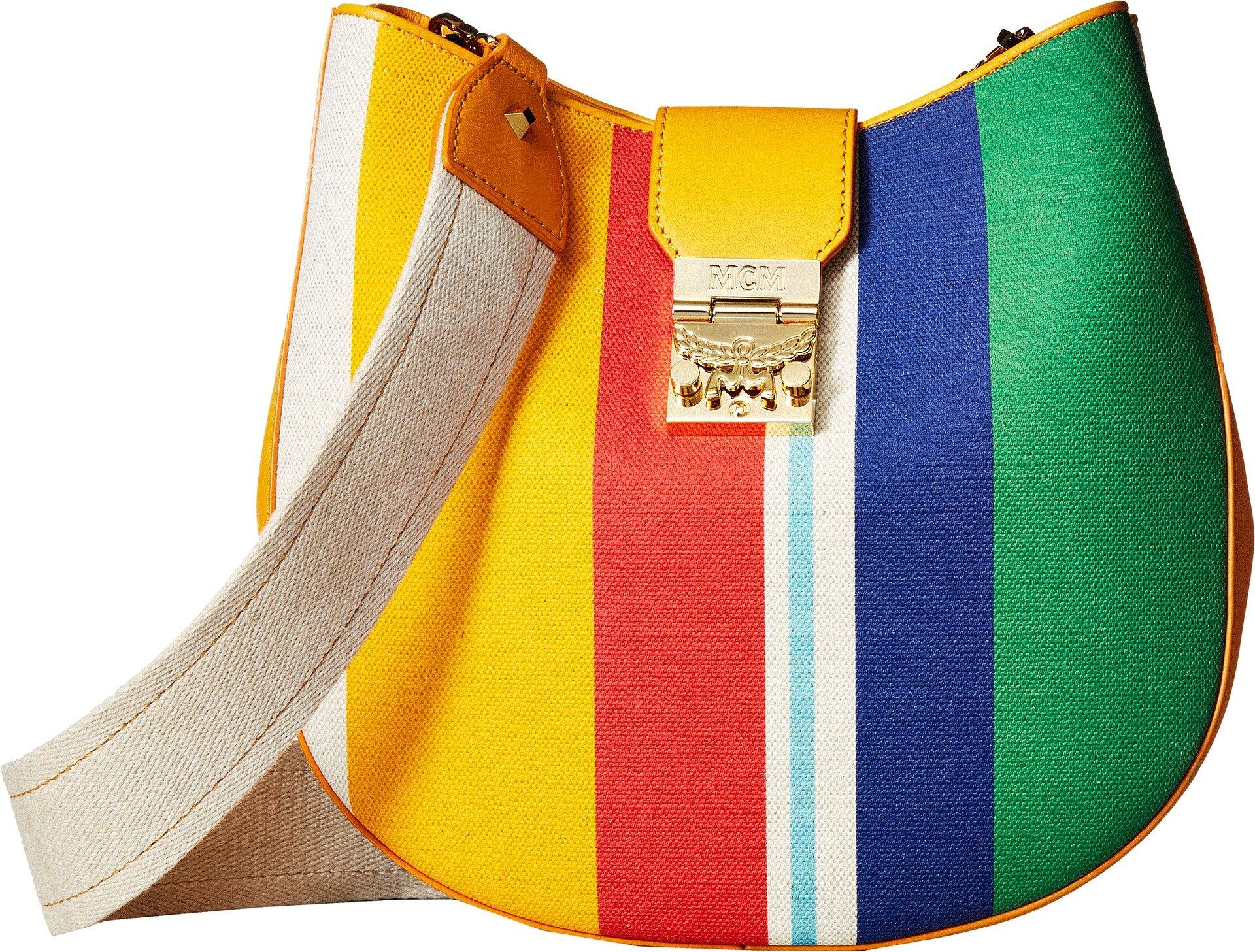 MCM Women's Patricia Canvas Hobo Rainbow Yellow One Size