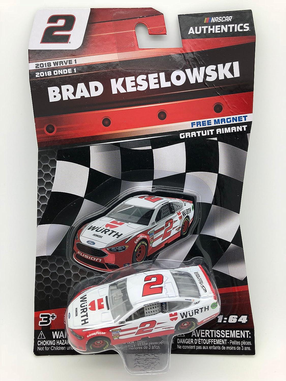 Amazon Com Nascar Authentics Brad Keselowski 2 Diecast Car 1 64 Scale 2018 Wave 1 Toys Games
