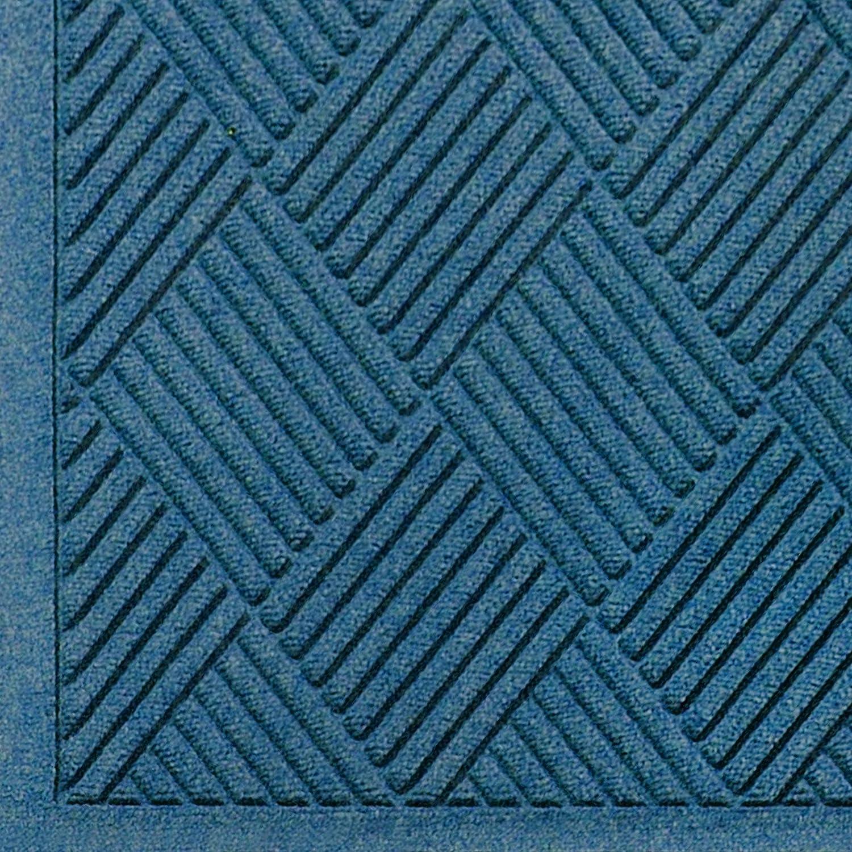 3//8 Thick M+A Matting 221 Waterhog Fashion Diamond Polypropylene Fiber Entrance Indoor//Outdoor Floor Mat 6 Length x 4 Width SBR Rubber Backing Bluestone