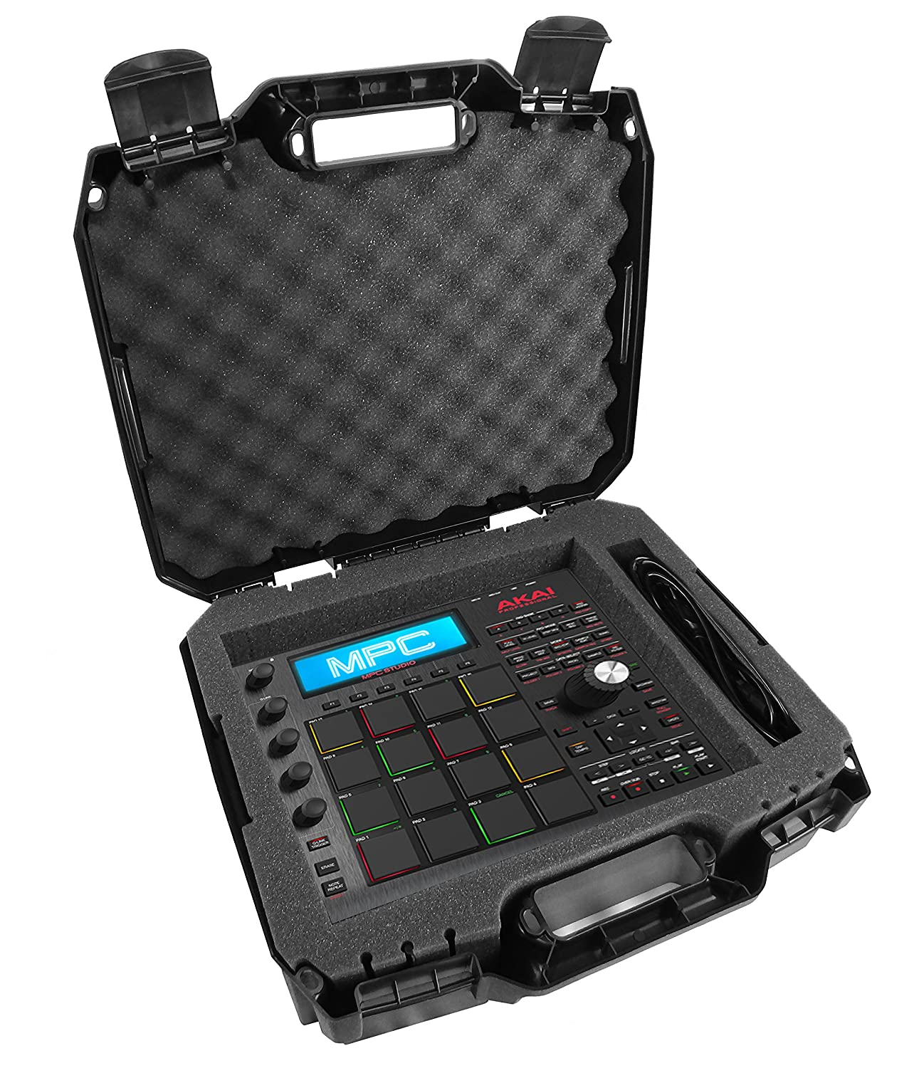 ArmorXL Carrying Case 17 for KeyPad Drum Controllers - Fits Akai Professional MPD218, MPD226, APC Mini, MPX16, MPD18, XR20, MPC Studio Black, MPC Element, MIDImix, Tom Cat, Rhythm Wolf CASEMATIX TAC17-DRM-AKI