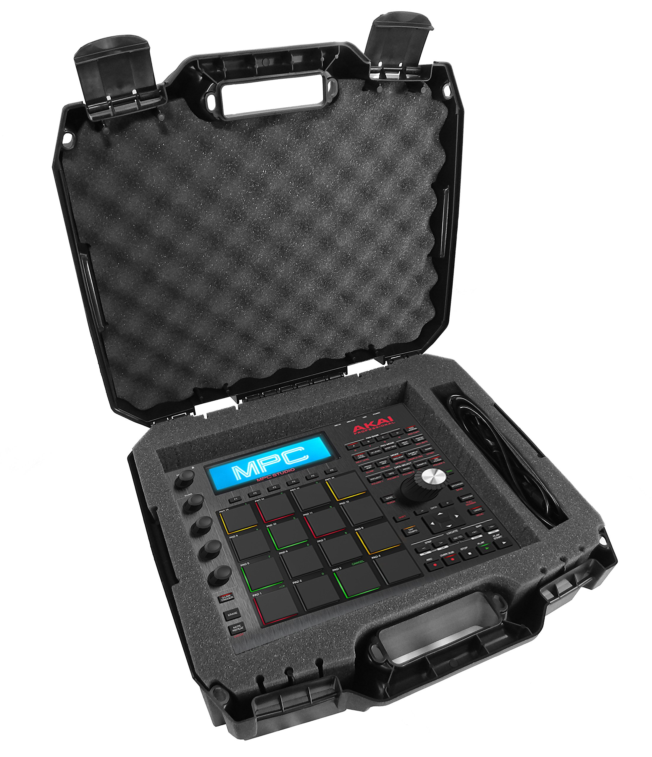 Casematix ArmorXL 17 inch Carry Case Compatible with KeyPad Drum Controllers by Akai Professional Mpd218, Apc Mini, Mpx16, Mpd18, Mpc Studio Black, MPpc Element, MidiMix Tom Cat or Rhythm Wolf by CASEMATIX