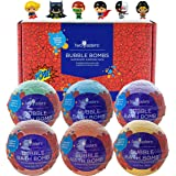 Superhero Bubble Bath Bombs for Kids with Surprise Toys Inside by Two Sisters Spa. 6 Large 99% Natural Fizzies in Gift…