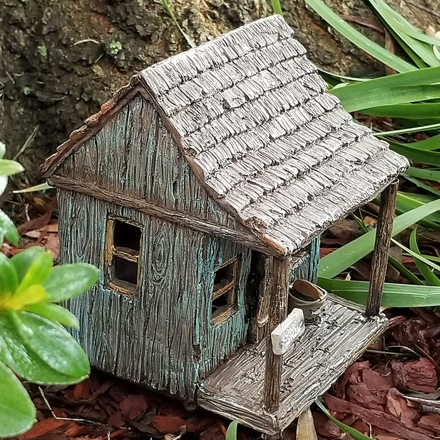 Fairy Wharf w//hinged Door Miniature Fairy Garden House