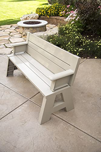 Premiere Products 5RCATA Tan Convert A Bench, Approximate Size Table 27 H x 14 D 31 H x 58 L Seat 17 H x 14 D Weighs 38 lbs