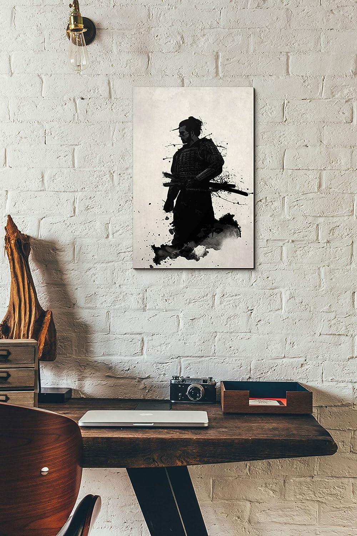 Wonderbaar Amazon.com: Cortesi Home Samurai Canvas Wall Art, 28