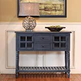 Décor Therapy FR8443 Accent Table, Antique Navy