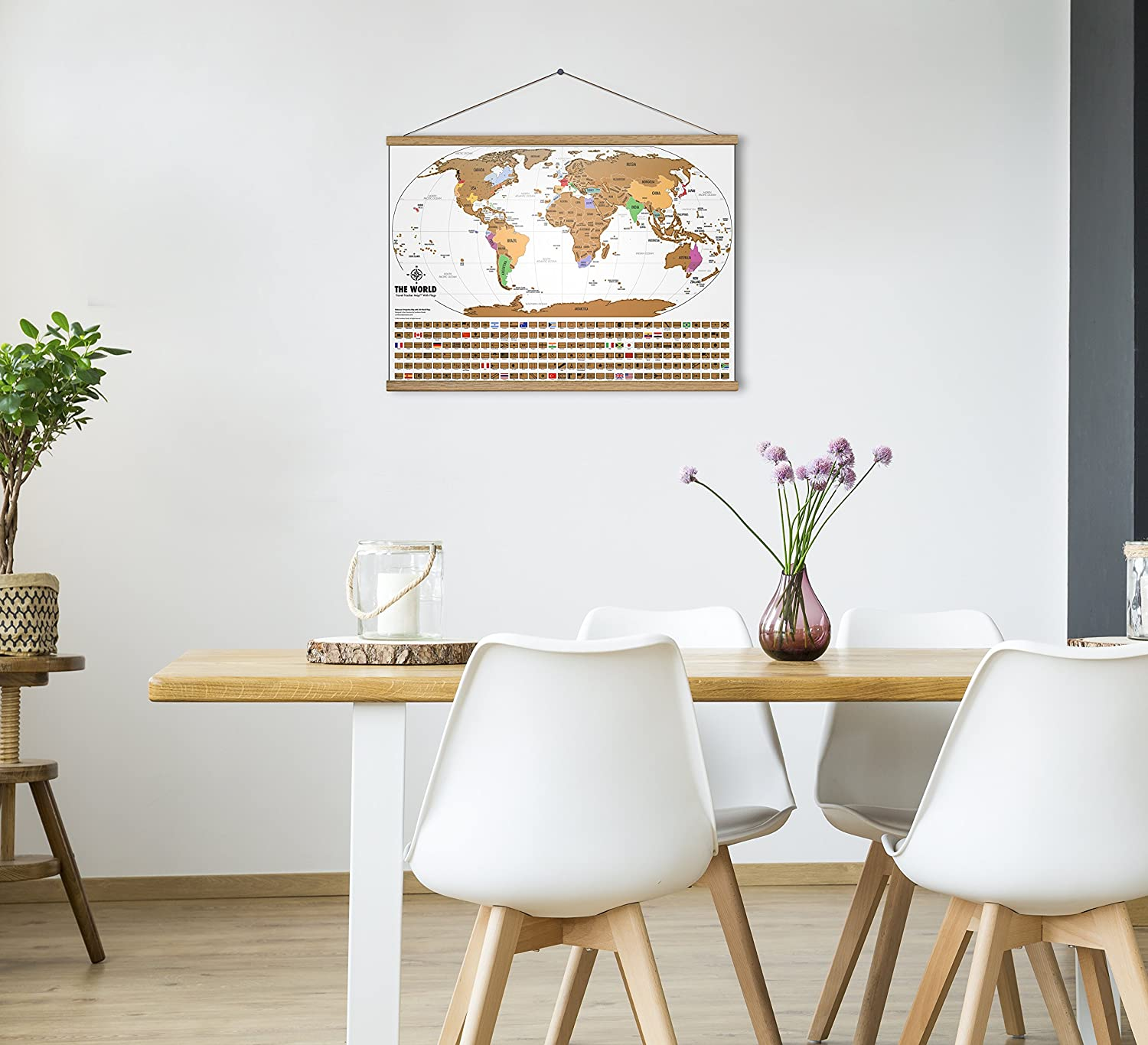 Landmass Goods US States Outlined Clean Design and Vibrant Colors to Make Your Story Come to Life The Gift Travelers Want Landmass Scratch Off World Map Poster 17x24 Black and Gold Travel Tracker Map w//Flags
