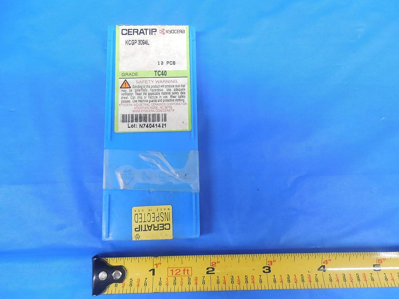 10PCS New CERATIP KCGP 3094L Ceramic Inserts Grade TC40 KYOCERA KCGP-3094 L