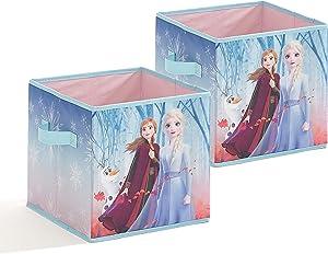 "Disney Frozen 2 Pack Collapsible Storage Cubes, 10""X10""X10"""