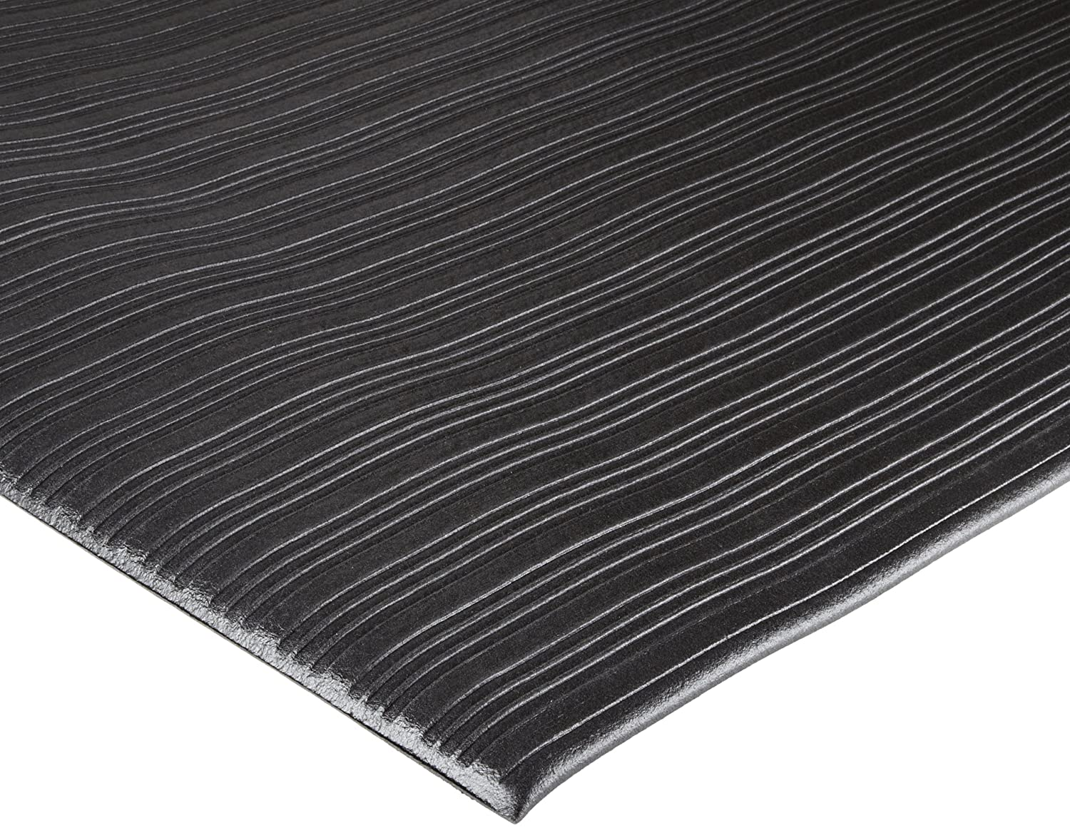 Durable Sof-Spun Standard Anti-Fatigue Floor Mat, 27 Width x 60 Length x 3/8 Thickness, Black Durable Corporation 575S2760BK