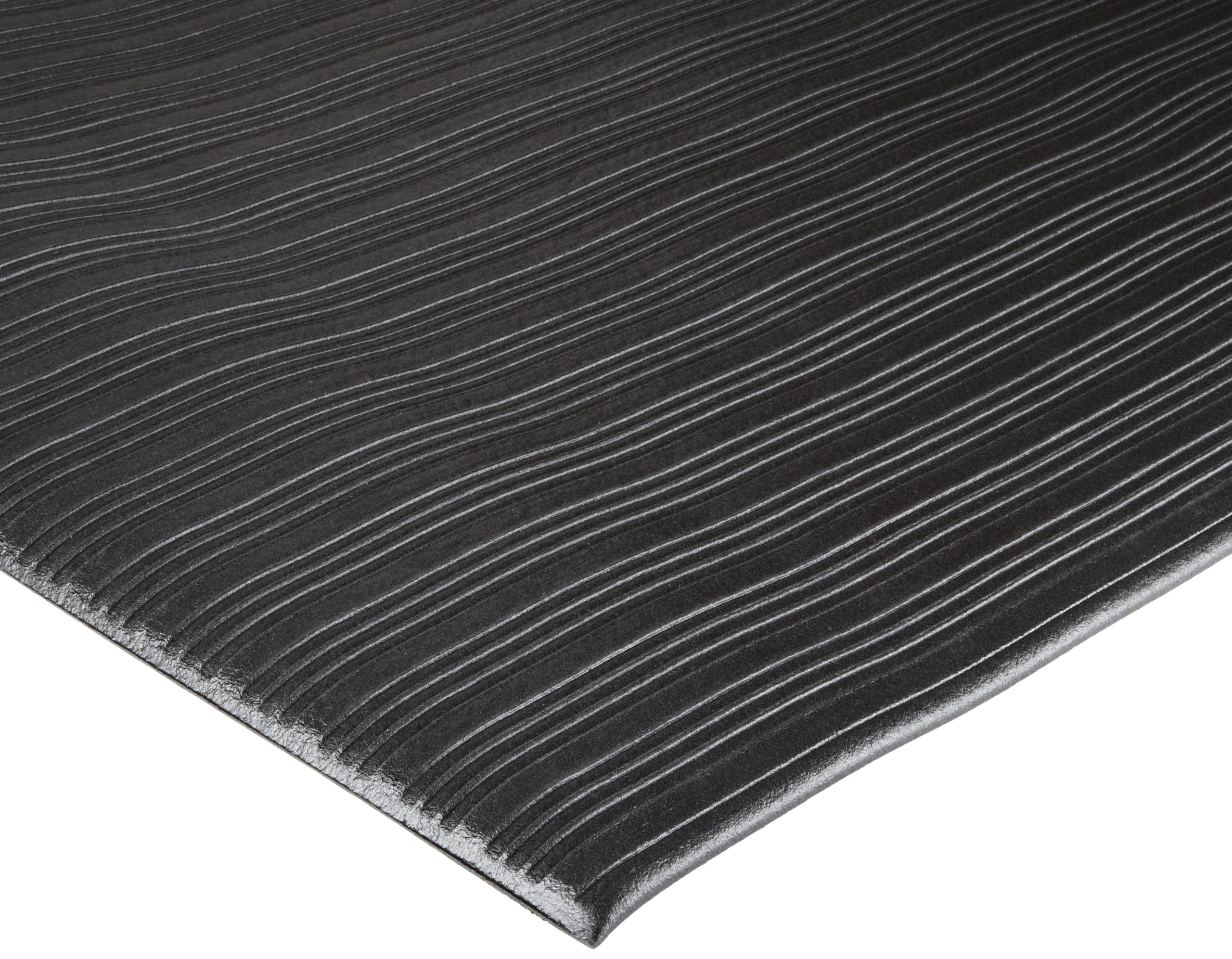Durable Corporation Vinyl Sof-Spun Standard Anti-Fatigue Mat, For Indoors, 36'' Width x 60'' Length x 3/8'' Thickness, Black by Durable Corporation