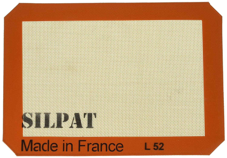 Silpat Premium Non-Stick Silicone Baking Mat, Half Sheet Size, 11-5/8' x 16-1/2' 11-5/8 x 16-1/2 AE420295-07