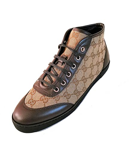 1f3d108583c Amazon.com  Gucci Womens GG High Top Sneaker Shoes EUR 37.5 US 8  Shoes