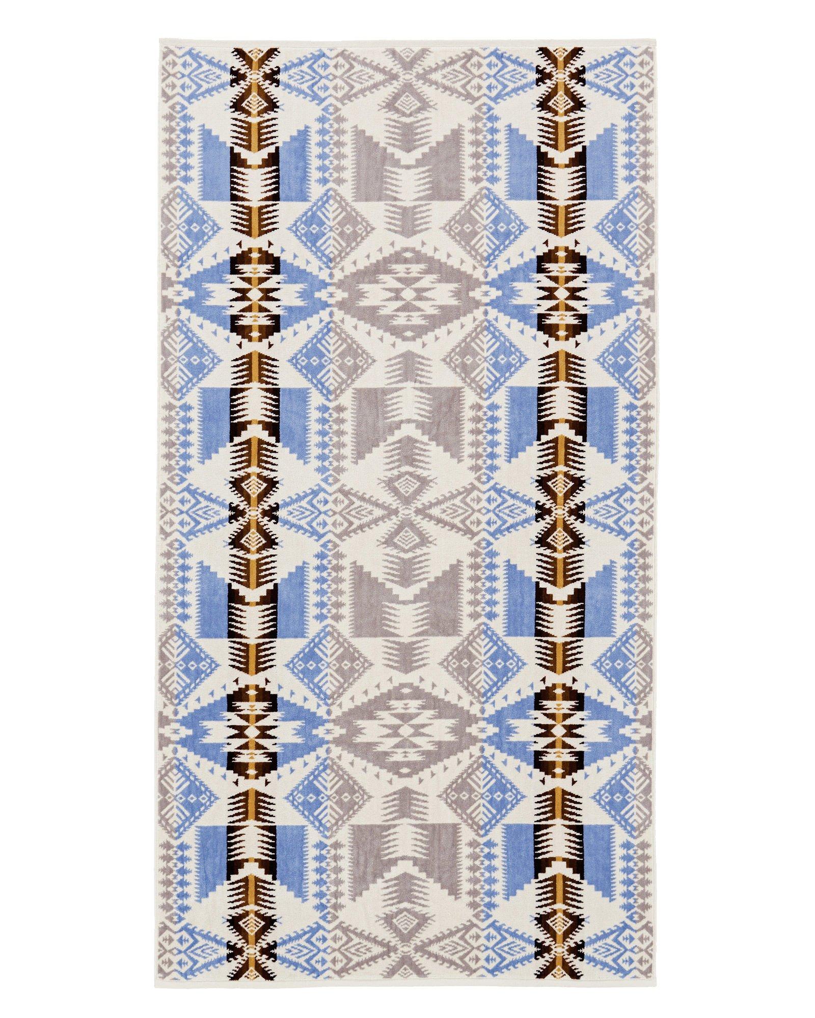 Pendleton SoftAbsorbent Cotton Bath Towel - Silver Bark Decorative Tapestry Pattern Print, One Size