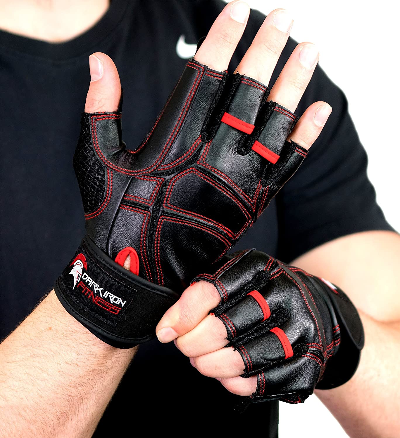 Bench Pressing with Gloves - Dark Iron Fitness' leather work out gloves