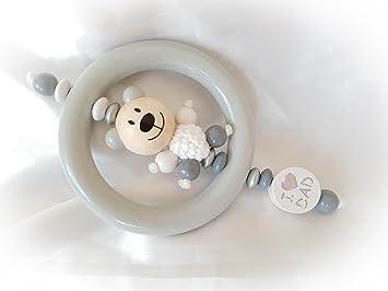 40 x Kinder Holz Beißring Säugling Rassel Unisex Babys Spielzeug für Kauen