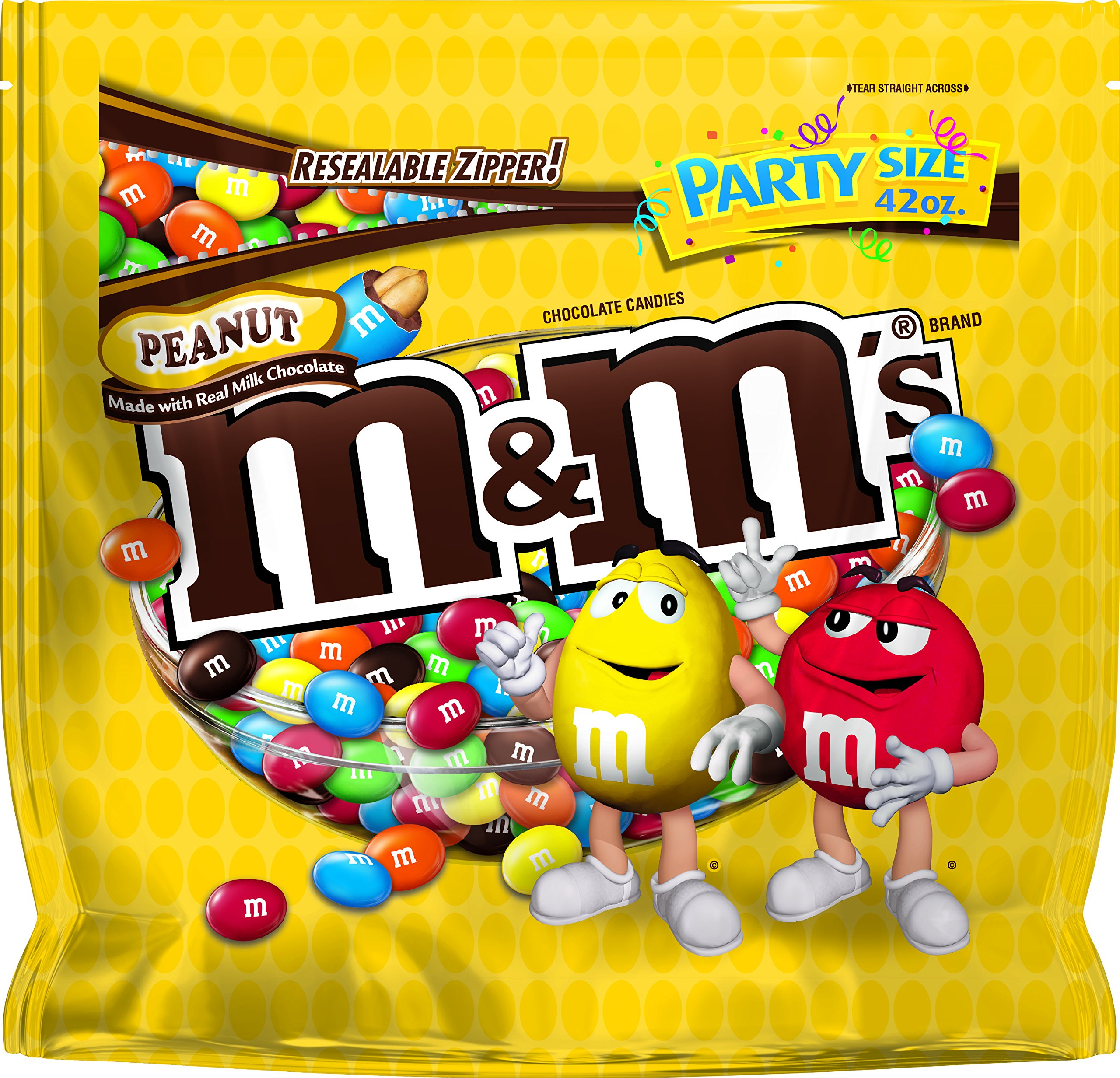 M&M'S Peanut Chocolate Candies, 42 Ounce (Pack of 6) by M&M'S