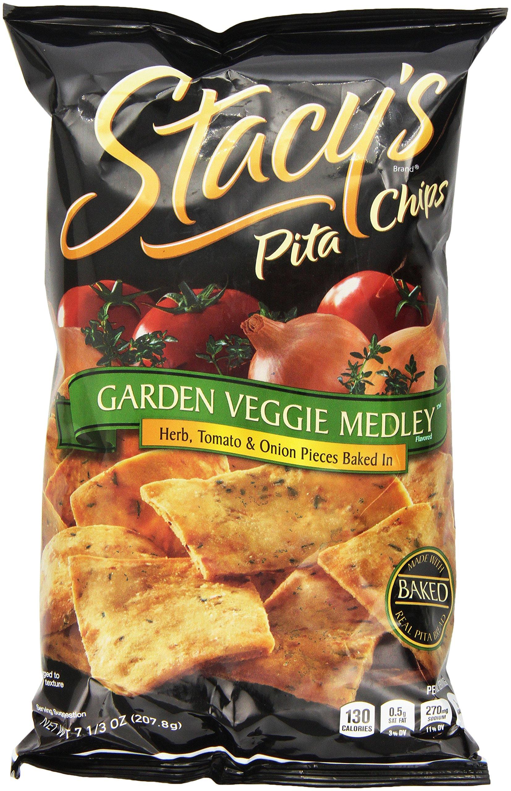 Stacy's Pita Chips, Garden Veggie Medley, 7.3 Ounce (Pack of 6)