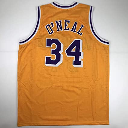 Unsigned Shaquille Shaq O Neal Los Angeles LA Yellow Custom Stitched Basketball  Jersey Size Men s 2f9d202cc