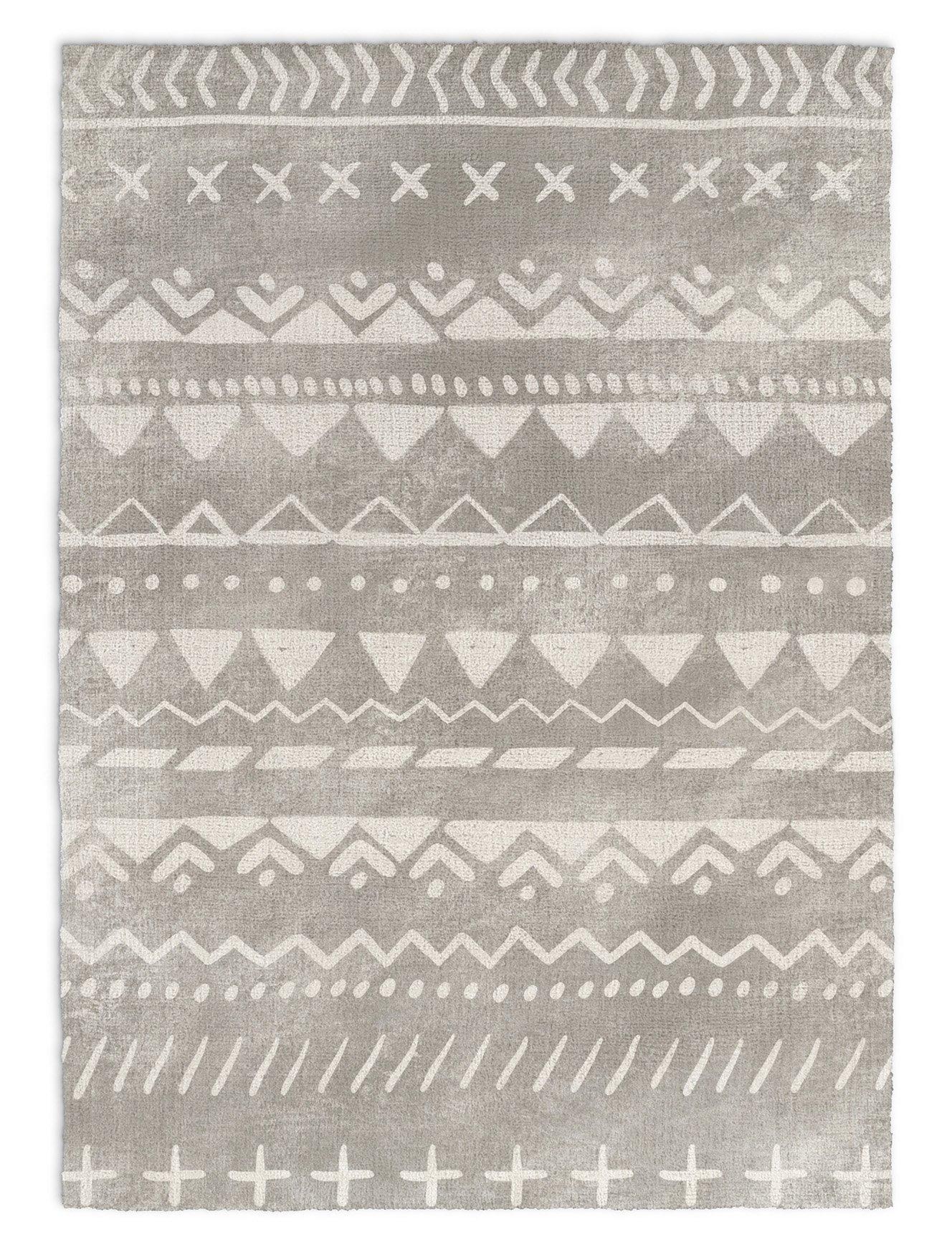 KAVKA Designs Fox Rug Area Rug, (Grey/White) - , Size: 3x5x.5 - (JLJAVC045RUG35)
