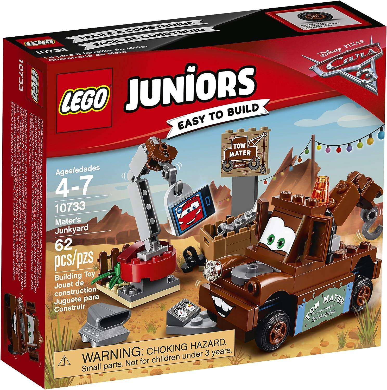 Amazon Com Lego Juniors Mater S Junkyard 10733 Building Kit Toys Games