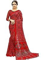 Glory Sarees Women's Bhagalpuri Art Silk Saree(gloryart11_red)