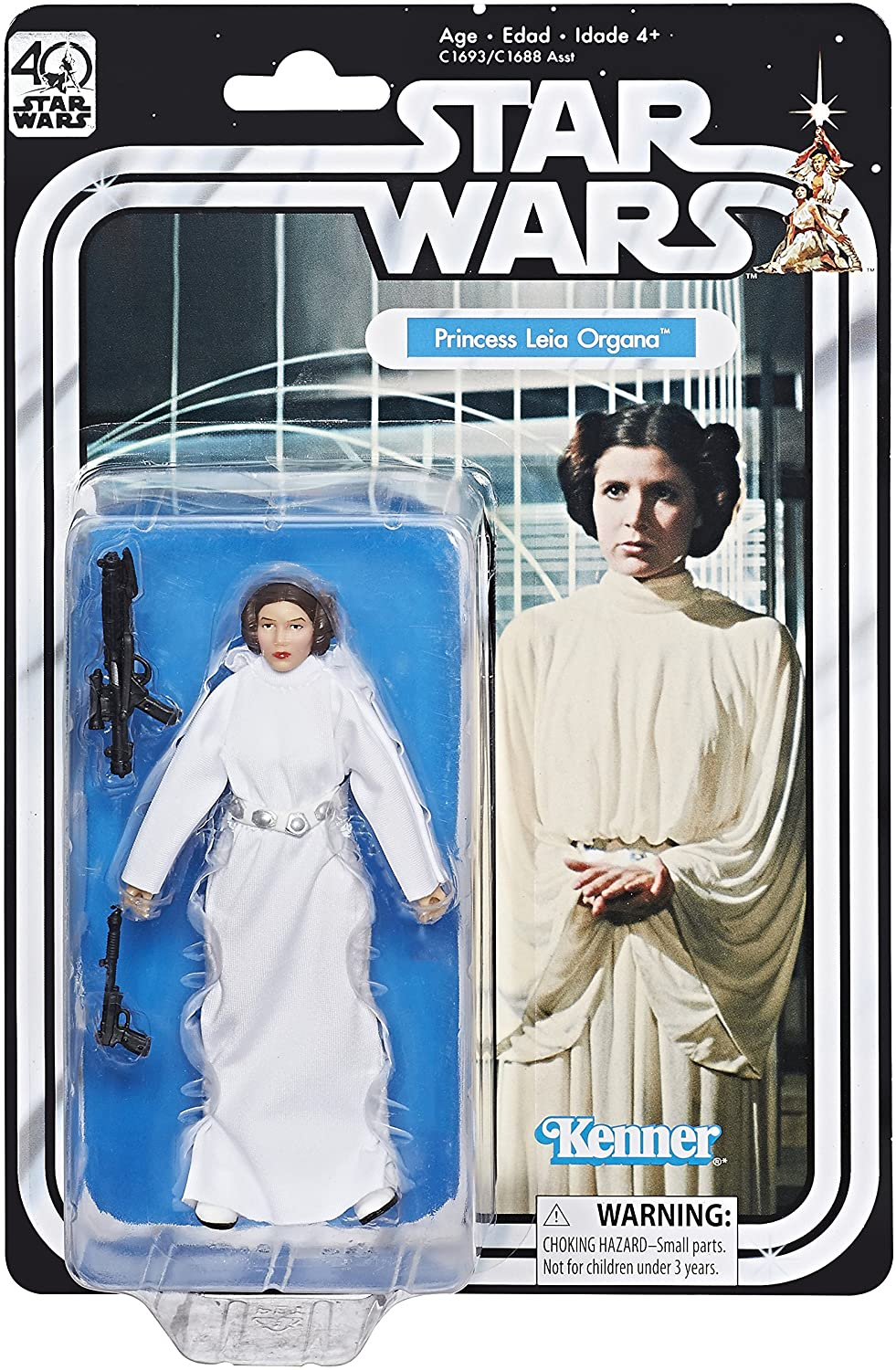 Star Wars The Black Series 40th Anniversary Princess Leia Organa 5.25 Inch Figure