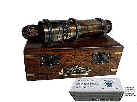 Amazon Com U S Handicrafts Vintage Nautical Handheld Brass
