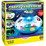 Creativity for Kids Crystal Space Terrarium Kit - Crystal Growing Kit for Kids - DIY STEM Science Kit for Boys and Girls