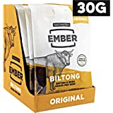 Ember Biltong - Beef Jerky - Original (10 x 30g) - British and Irish Grass-fed Steak. High Protein Biltong Snack - No Sugar Healthy Snack (10 x 30g)