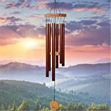 Wind Chimes for People WHO Like Their Neighbors Soothing Melodic Tones & Solidly Constructed Bamboo/Aluminum Chime Great as a Quality Gift or to Keep for Your own Patio Porch Garden or Backyard.
