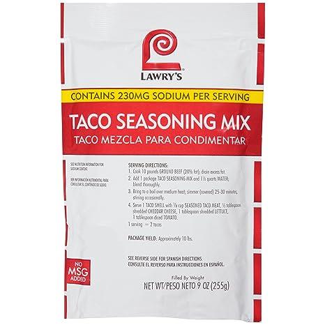 Amazon.com : Lawrys Taco Seasoning Mix, 9 oz : Meat Seasonings : Grocery & Gourmet Food