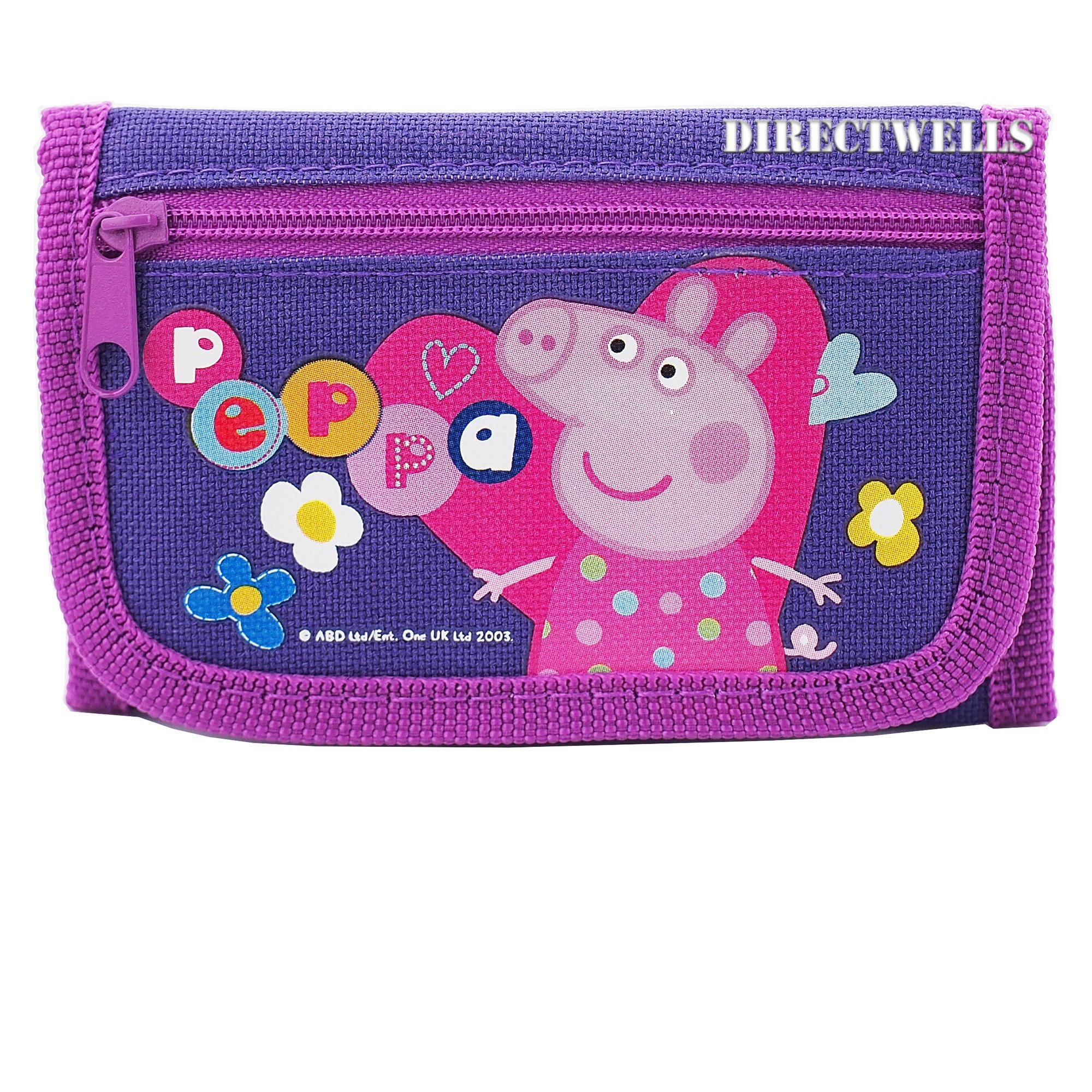 Peppa Pig Character Authentic Licensed Children Trifold Wallet (Purple) by Entertainment One (Image #1)