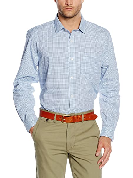 dockers Camisa Hombre Refined Poplin LS Standard Azul S: Amazon.es: Ropa y accesorios