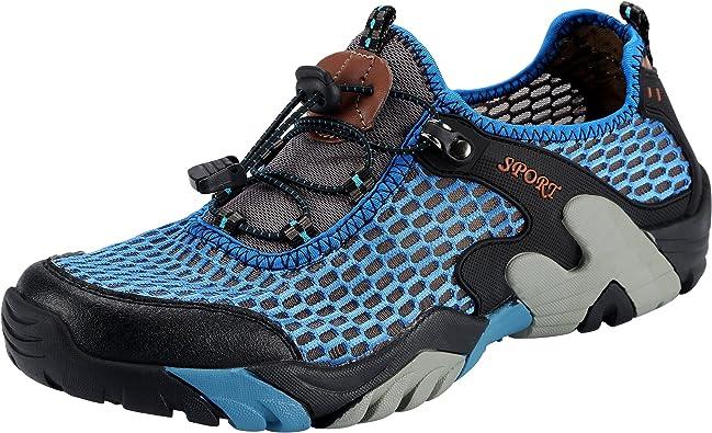 Padcod Zapatillas de Senderismo para Hombres Running Walking Trekking Zapatillas de Montañismo Súper Zapatillas Deportivas Aire Libre Montaña y Asfalto Zapatos para Correr Running Malla Transpirable: Amazon.es: Zapatos y complementos