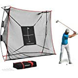 Rukket 9x7x3ft Haack Golf Net Pro   Practice Driving Indoor and Outdoor   Professional Golfing at Home Swing Training Aids  
