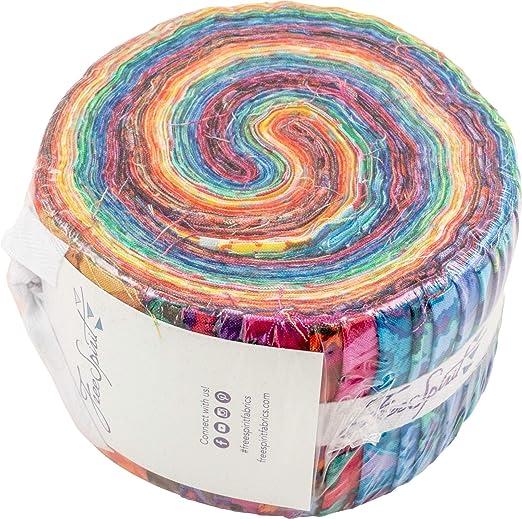 Ketan Batik Pastel Rainbow Sugar Sprinkles 2.5 Precut Strips Jellyroll from Northcott Fabric 40 pcs