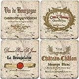 Thirstystone Ambiance Travertine Wine Labels