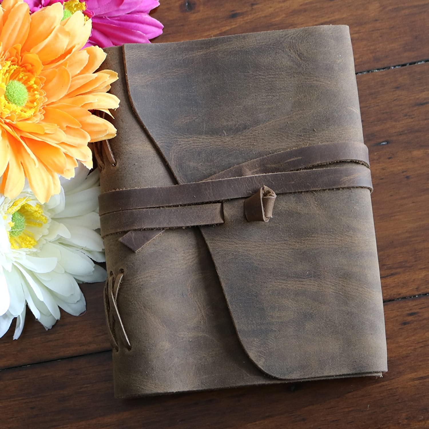 Outrider Leather Journal Notebook Diary Blank Book with Strap 5 X 7