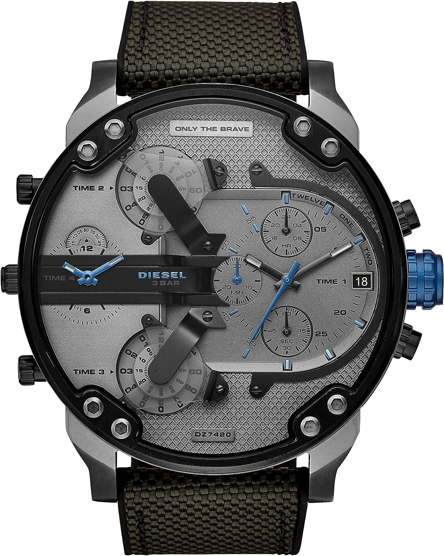 Diesel Reloj Analógico para Hombre de Cuarzo con Correa en Nailon DZ7420