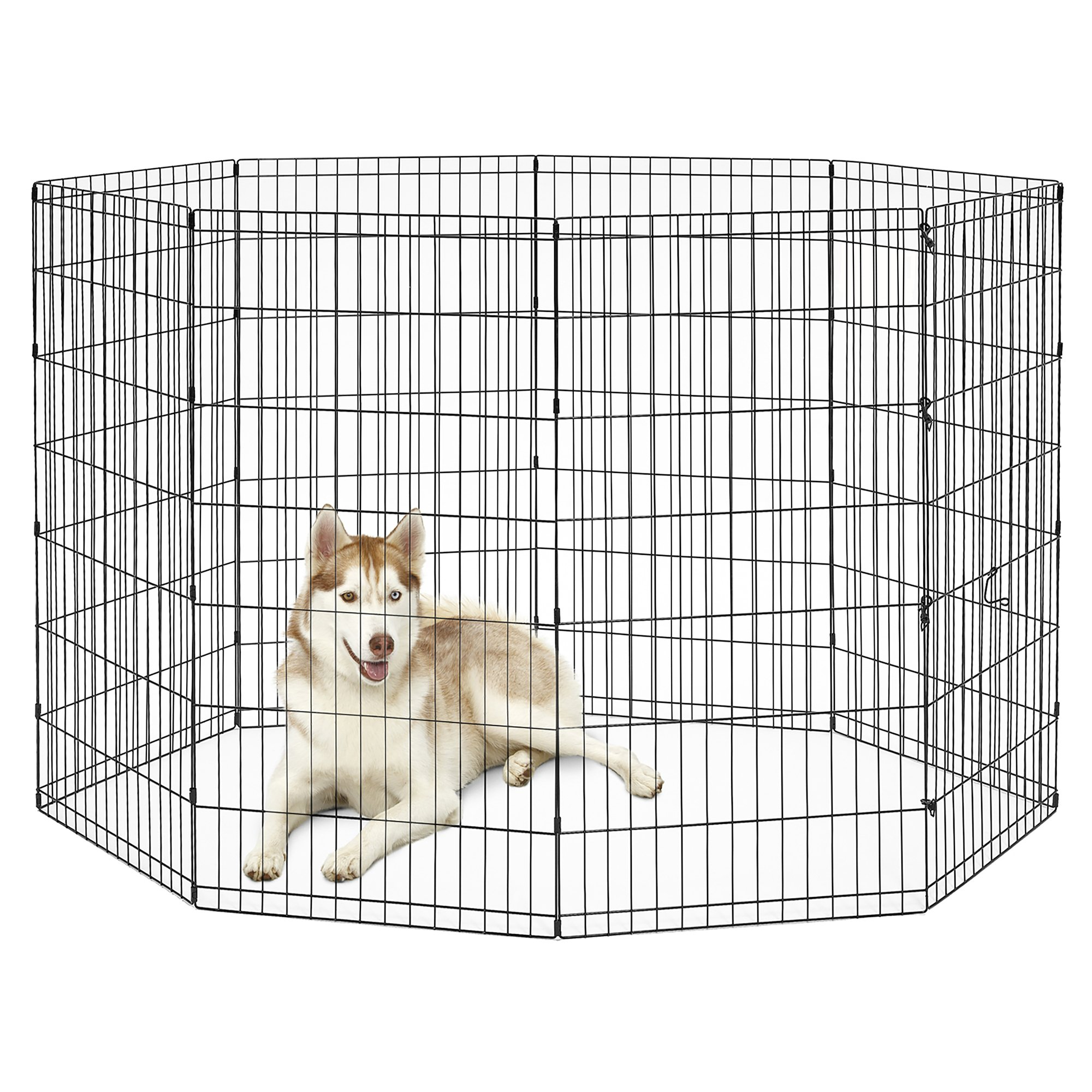 New World Pet Products B558-48 Foldable Exercise Pet Playpen, Black, X-Large/24 x 48''
