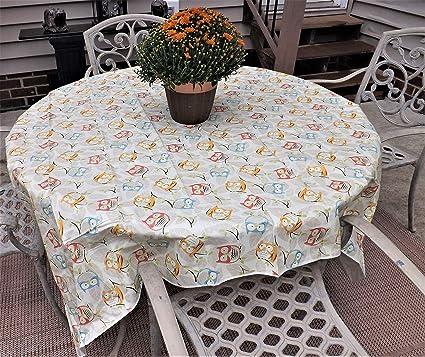 Amazon Com Crabtree Collection Vinyl Tablecloth Indoor Outdoor