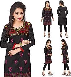 Women Fashion Casual Indian Short Kurti Tunic Kurta Top Shirt Dress ECCO06