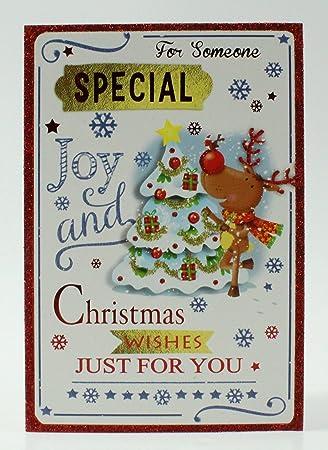 Für einen besonderen Menschen zu Weihnachten Karte Grußkarte Luxus ...
