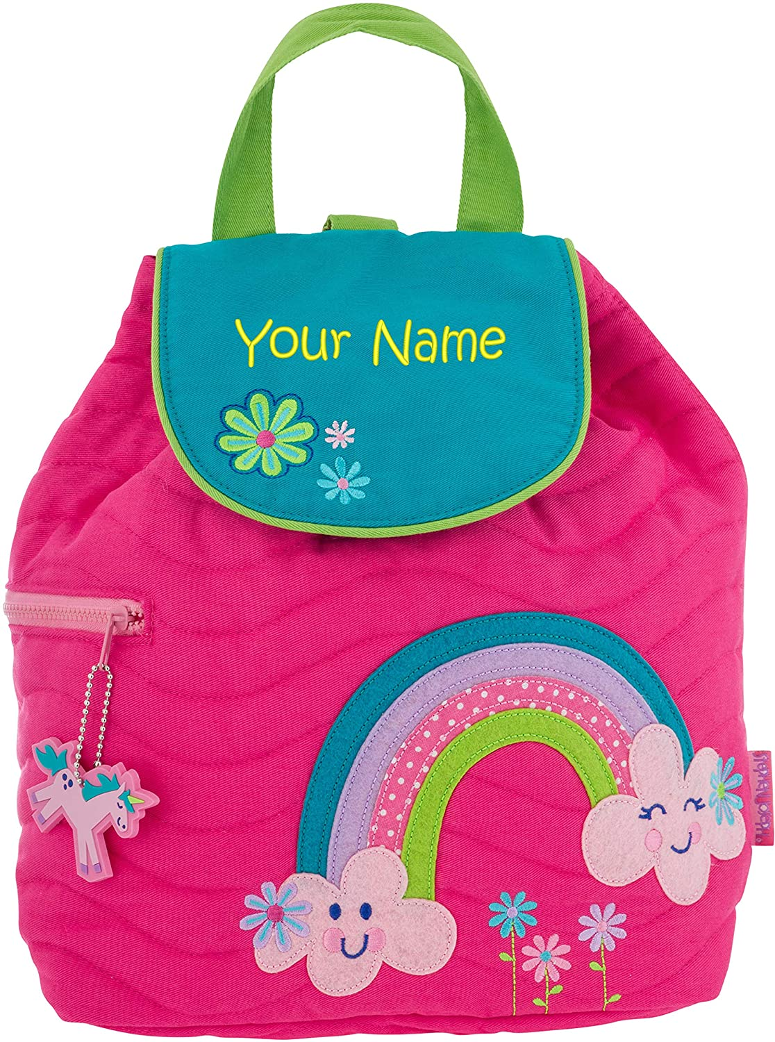 00a231c65d08 Personalized Stephen Joseph Rainbow Quilted Backpack with Embroidered Name