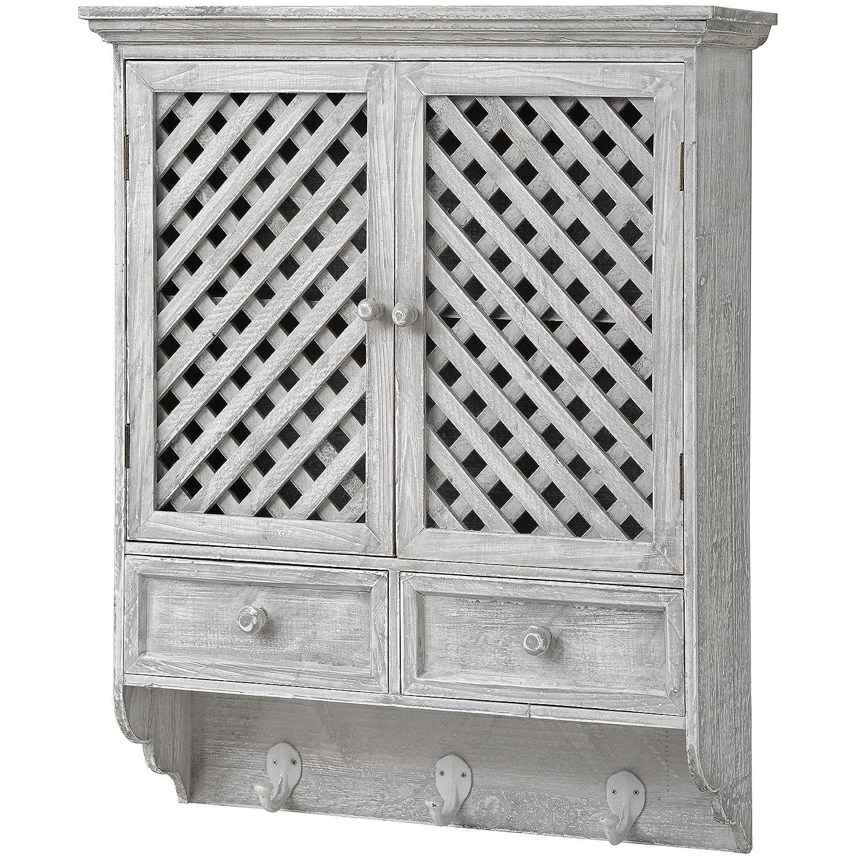 Vintage, diseño de celosía Puerta Armario de pared/madera maciza ...