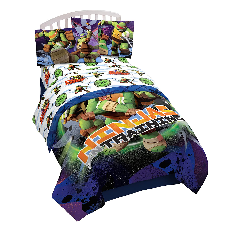 Nickelodeon Teenage Mutant Ninja Turtles Stars 3 Piece Microfiber Twin Sheet Set, Nina Training