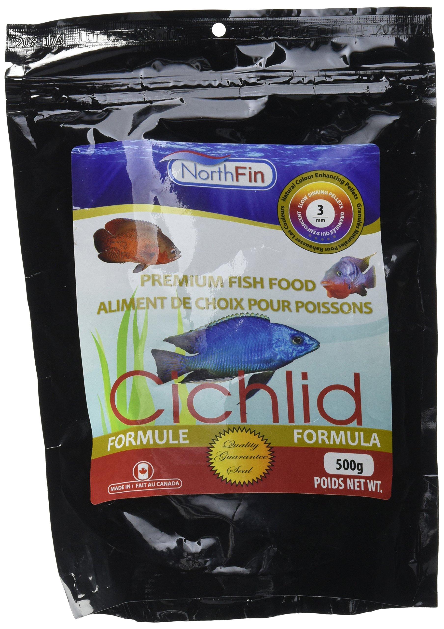 Northfin Fish Food, 3 mm Sinking Pellets, 500 g, Cichlid Formula by Northfin (Image #1)