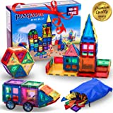 Mega Magnetic Building Blocks Set: Teach a Child Physics and Science with a 100 + 14 Pieces Thinking Game. 100-Piece Block Magnets Kit w/ Accessories. Colored Construction Magnet Tiles w/ Many Shapes