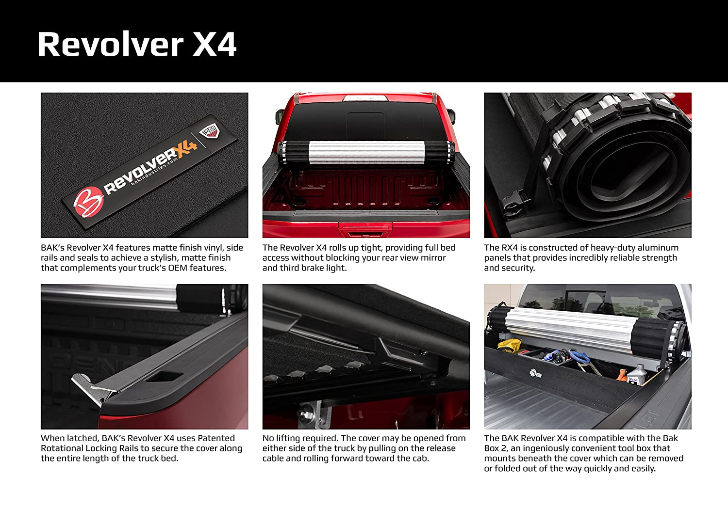 Bak Industries Revolver X4 Hard Rolling Truck Bed Cover 79602 2017